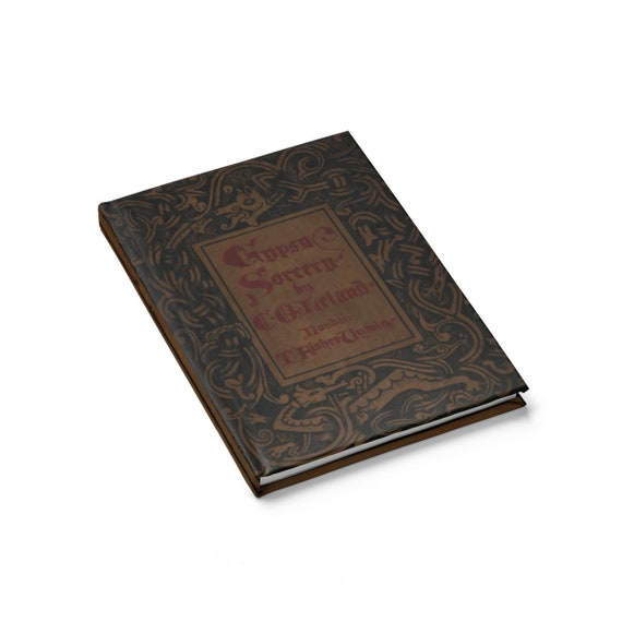 Gypsy Sorcery, Hardcover Journal, Opens Flat, Ruled Line, Vintage Book Cover
