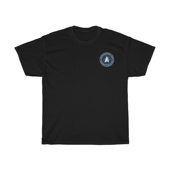 Space Force Insignia Logo, Unisex Heavy Cotton T-shirt, From Official USSF Seal, Military