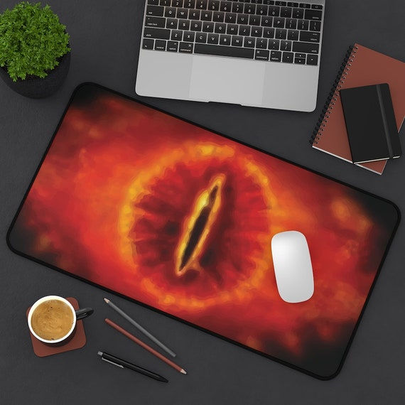 Eye Of Sauron Desk Mat, Inspired by Lord Of The Rings