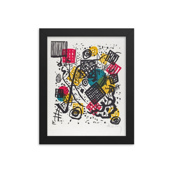 """Small Worlds #5, 8""""x10"""" Framed Giclée Poster, Black Wood Frame, Acrylic Covering, Wassily Kandinsky, Circa 1922, Abstract"""