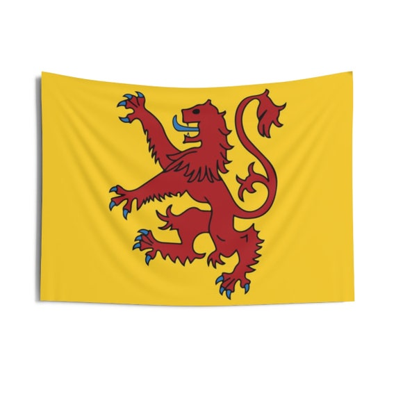 """Lion Rampant of Scotland v2, 36""""x26"""" Indoor Wall Tapestry, Royal Banner of the Royal Arms of Scotland, Scottish Pride, Wall Decor"""