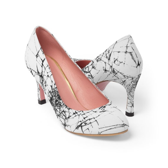 "Walking On Broken Glass, Women's 3"" High Heels, Inspired By The Annie Lennox Song"
