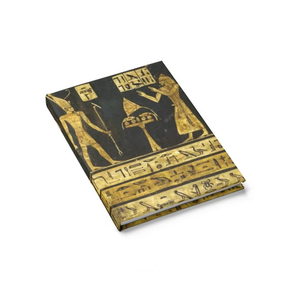 Stela Of Harsiese v2, Hardcover Journal, Ruled Line, Ancient Egyptian Hieroglyphs, Notebook