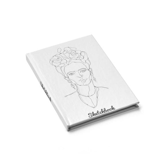 Frida Kahlo, Hardcover Sketchbook, Blank Pages, Opens Flat, Notebook