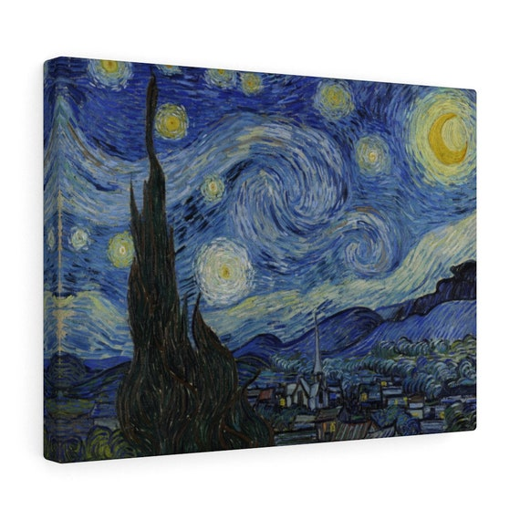 The Starry Night Canvas Gallery Wrap, Vincent Van Gogh, 1889