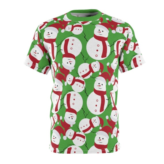 Ugly Christmas Shirt, Snowmen, Unisex T-shirt, Ugly Sweater Party For Hot Climates