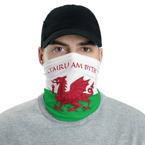 Cymru Am Byth, Neck Gaiter, Red Dragon, Flag Of Wales, Welsh Motto, Welsh Pride