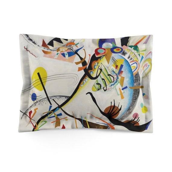 Kandinsky's Blue Segment Pillow Sham, Abstract