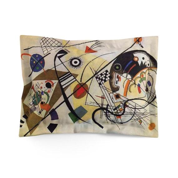 Kandinsky's Transverse Line Pillow Sham, Abstract