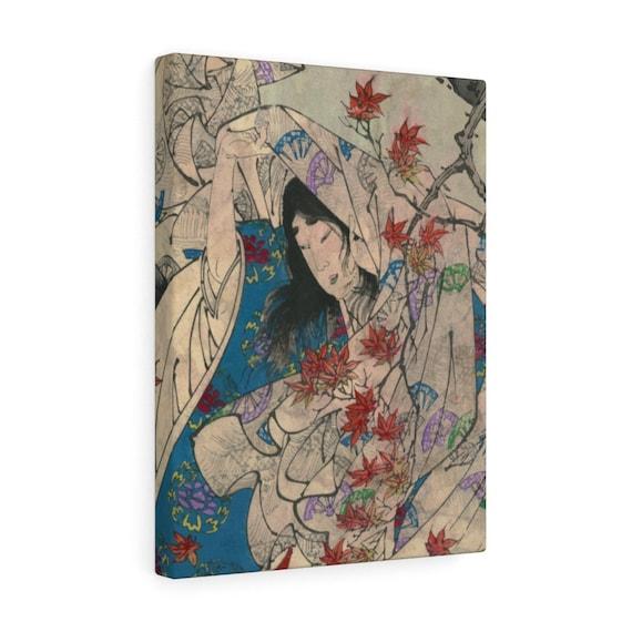 Autumn Leaves, Gallery Canvas, Japanese Woodblock Print, Ukiyo-e