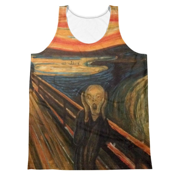 The Scream, All-Over Print Men's Tank Top, Vintage/Antique Painting, Edvard Munch 1893