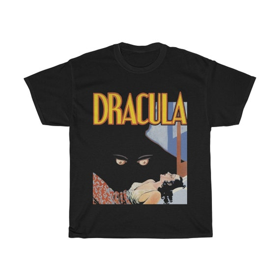 Dracula, Unisex Heavy Cotton T-shirt, From A Vintage 1931 Horror Movie Poster
