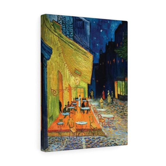 Cafe Terrace At Night Canvas Gallery Wrap, Vincent Van Gogh, 1888