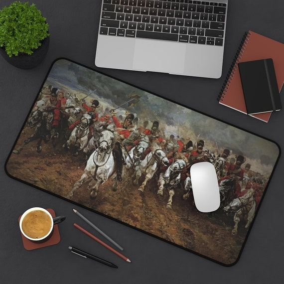 Scotland Forever! Desk Mat, Charge of the Royal Scots Greys, Battle of Waterloo, Military History