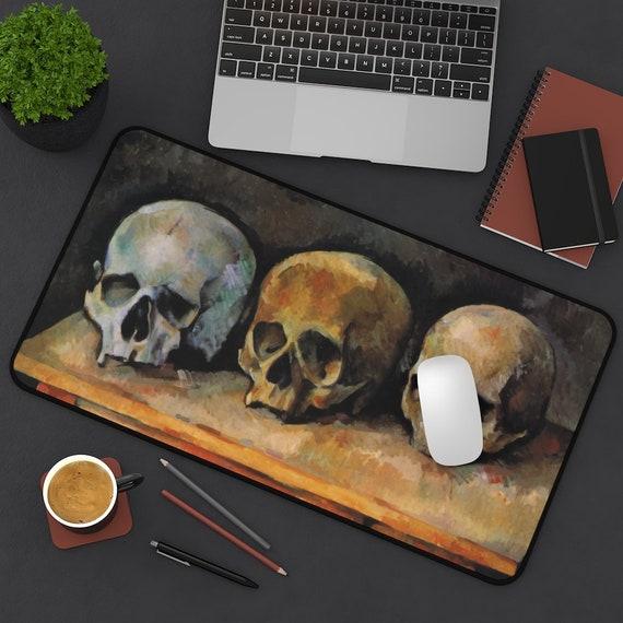 Three Skulls Desk Mat, Paul Cezanne