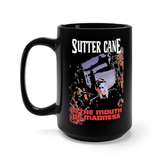In The Mouth Of Madness, Black 15oz Ceramic Mug, Inspired from Fictional Sutter Cane Cosmic Horror Novel, Lovecraft, Coffee, Tea