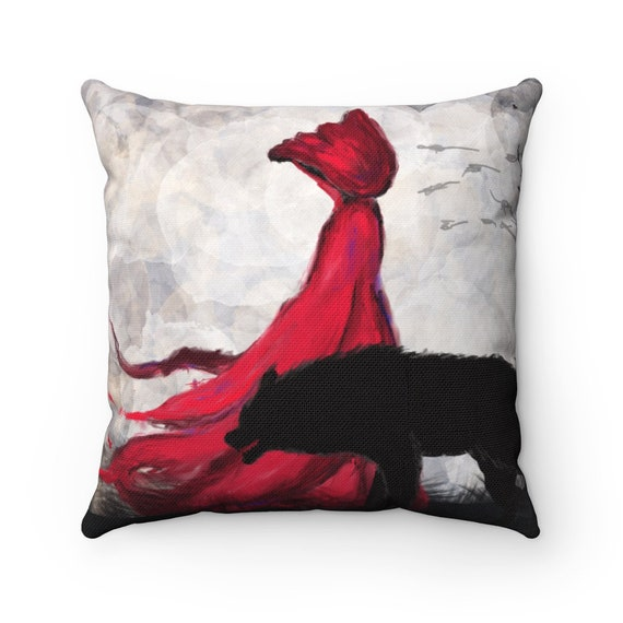 Red Riding Hood And Companion Square Pillow, A Fairy Tale Retold