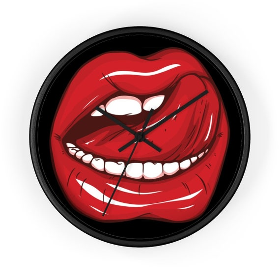 """Lick Me, 10"""" Wall clock"""
