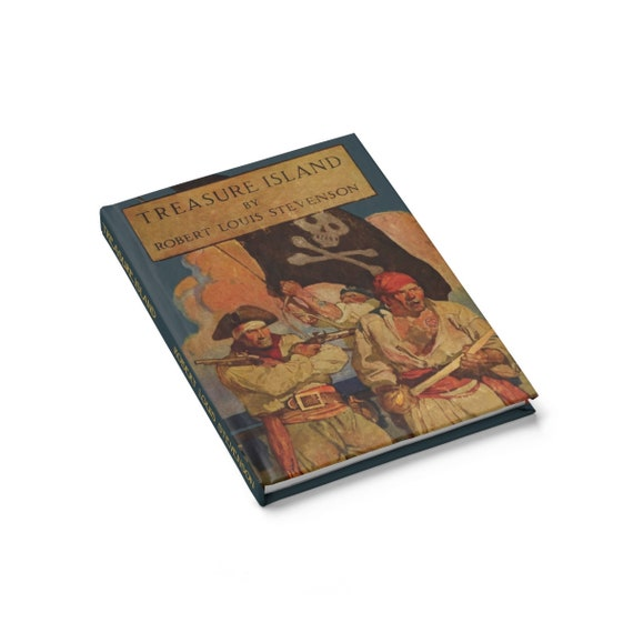 Treasure Island, Hardcover Journal, Ruled Line, Inspired By Robert Louis Stevenson