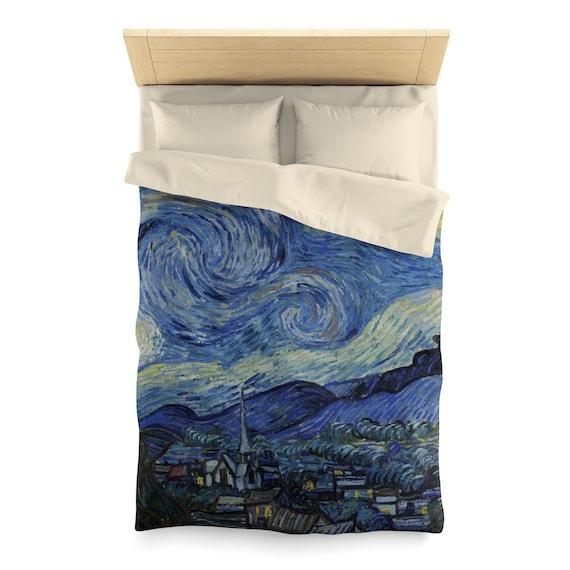 Starry Night, Duvet Cover, Vintage, Antique Painting, Vincent Van Gogh