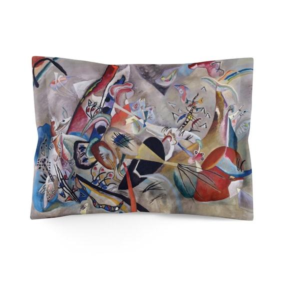 Kandinsky's In Gray Pillow Sham, Abstract
