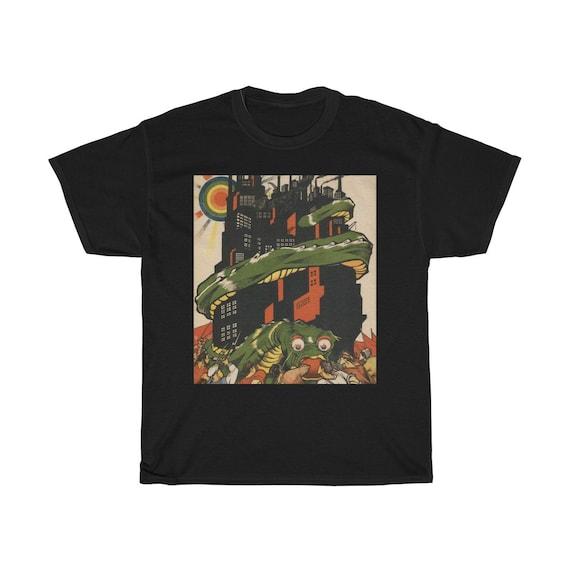 Death To World Imperialism, Black Unisex T-shirt, 1919 Bolshevik Propaganda Poster, Activism