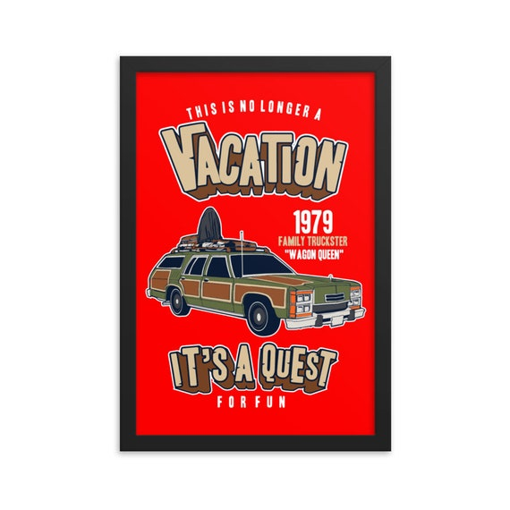 National Lampoon's Vacation v2, Framed Poster, Black Wood Frame, Acrylic Covering, Wagon Queen Family Truckster