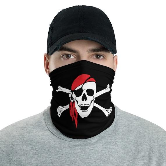 Skull & Crossbones, Neck Gaiter, Pirate Flag, Jolly Roger, Headband, Bandana