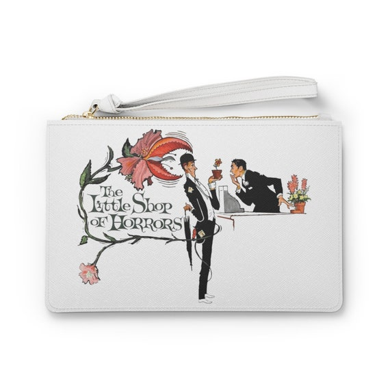 "Little Shop Of Horrors 9""x6"" Vegan Leather Clutch Bag, Vintage 1960 Movie Poster"