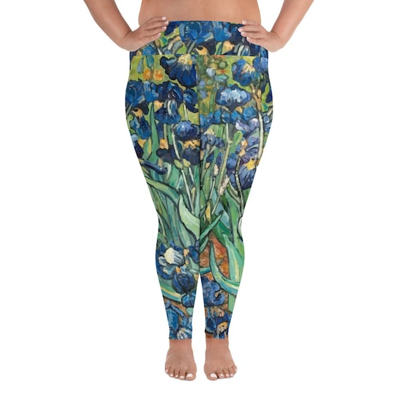 Irises, Plus Size Leggings, Vintage Painting, Vincent Van Gogh, 1890