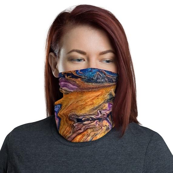 Orange Swirl, Neck Gaiter, Headband, Bandana