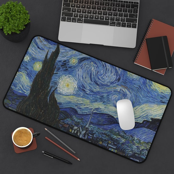 Starry Night Desk Mat, Vincent Van Gogh