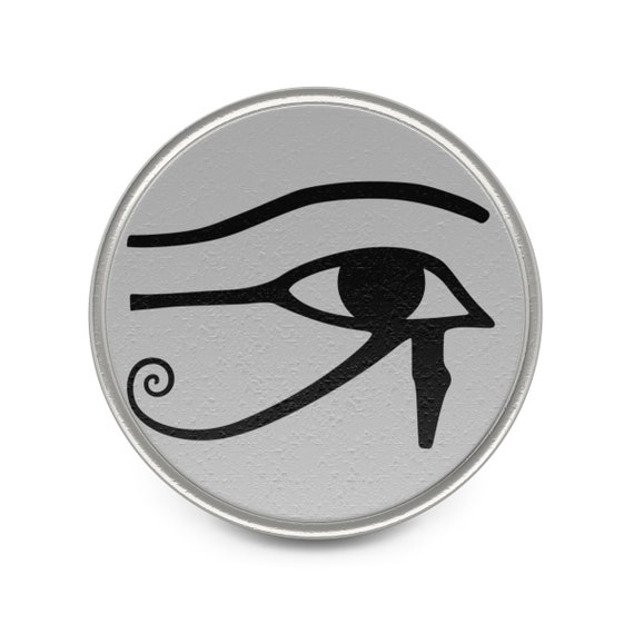 Eye Of Horus, Pewter Pin, Ancient Egyptian Symbol Of Protection, Royal Power & Good Health
