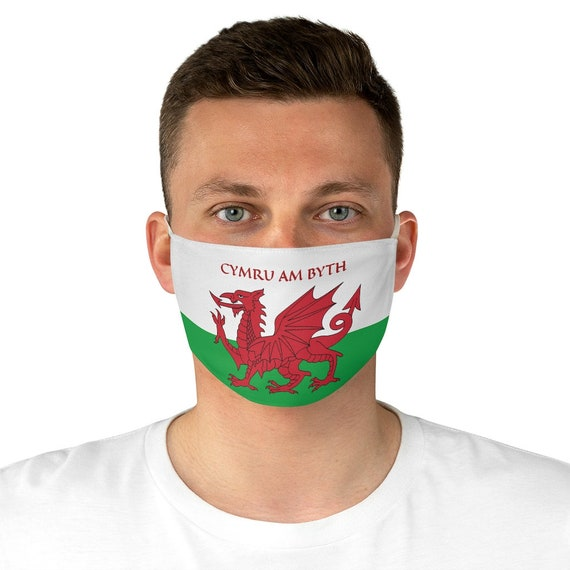 Cymru Am Byth, Cloth Face Mask, Washable, Reusable, Wales Flag, Motto, Welsh Pride