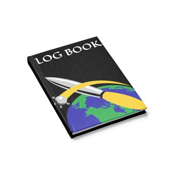 Space Group Log Book, Hardcover Journal, Ruled Line, 595th Space Group