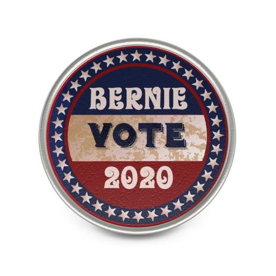 Vote Bernie 2020, Pewter Pin, Vintage Inspired