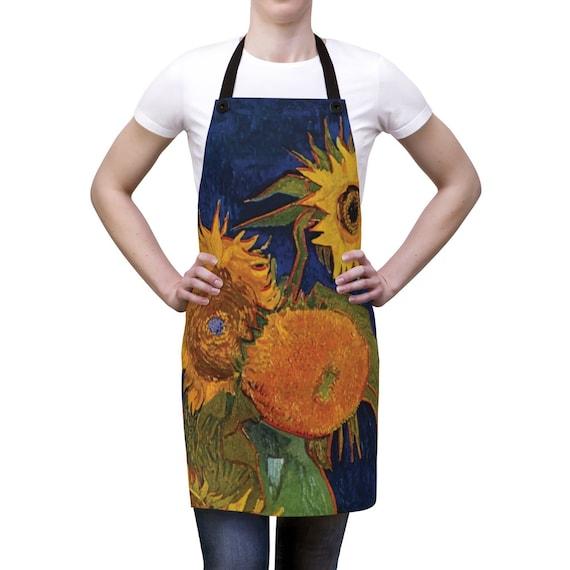 Six Sunflowers Kitchen Apron, Vincent Van Gogh