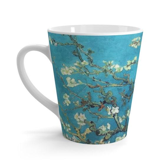 Almond Blossoms Latte Mug, Vincent Van Gogh, Coffee, Tea