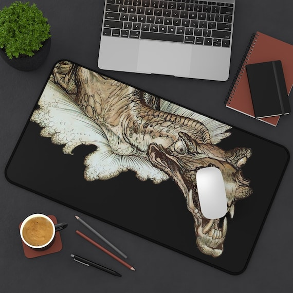 Leviathan Desk Mat, Arthur Rackham, Sea Dragon, Sea Monster