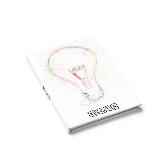 Ideas, Hardcover Journal, Ruled Line
