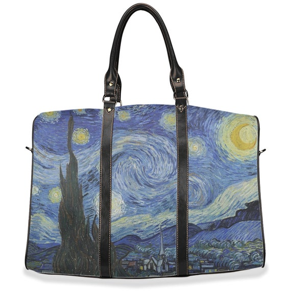 Starry Night, Travel Bag, Vintage, Antique Painting, Vincent Van Gogh, 1889