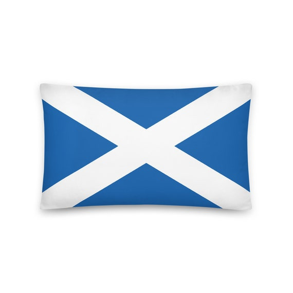 "Flag Of Scotland, 20""x12"" Throw Pillow, Saint Andrew's Cross, Saltire, Scottish Pride"