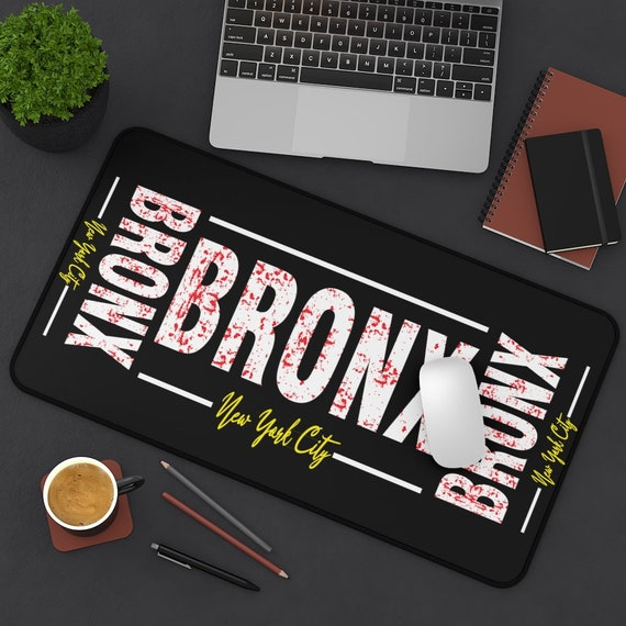 Bronx New York City Desk Mat, Vintage Retro Style Design, Bronx Pride