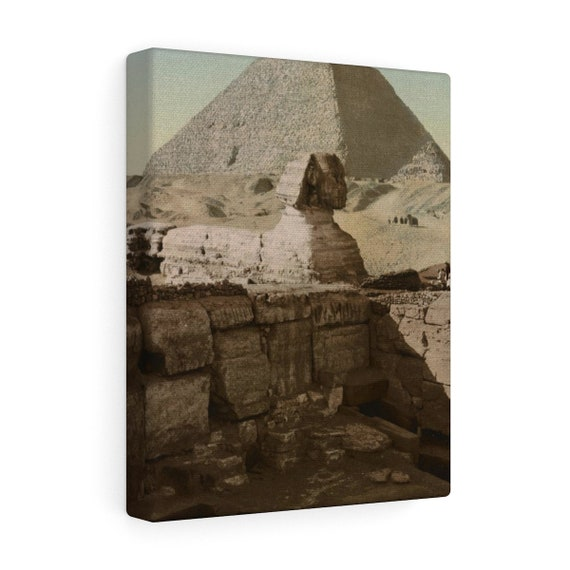 The Sphinx  - Wrapped Canvas - From An Antique Vintage Postcard, Circa 1890 To 1906.