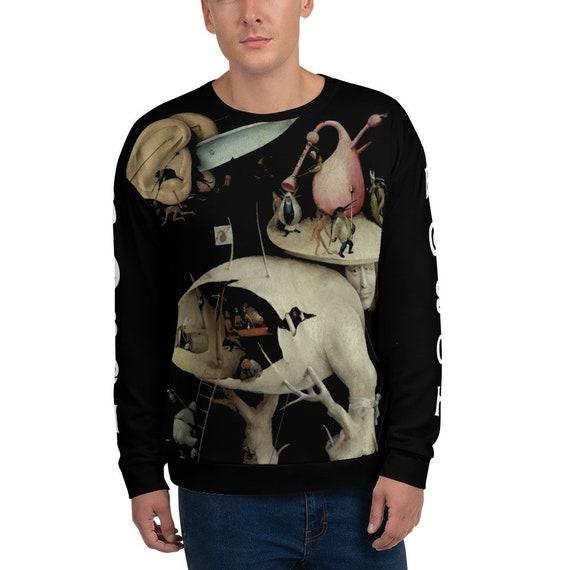 Tree Man, Black Unisex Sweatshirt, Surreal, Hieronymus Bosch, The Garden of Earthly Delights