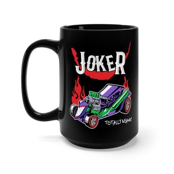 Insane Joker Hot Rod, Black 15oz Ceramic Mug, Inspired From 1960s Batman TV Show