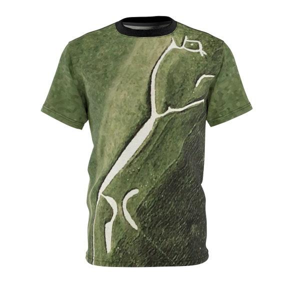 Uffington White Horse, Unisex T-shirt, Ancient Geoglyph, AOP