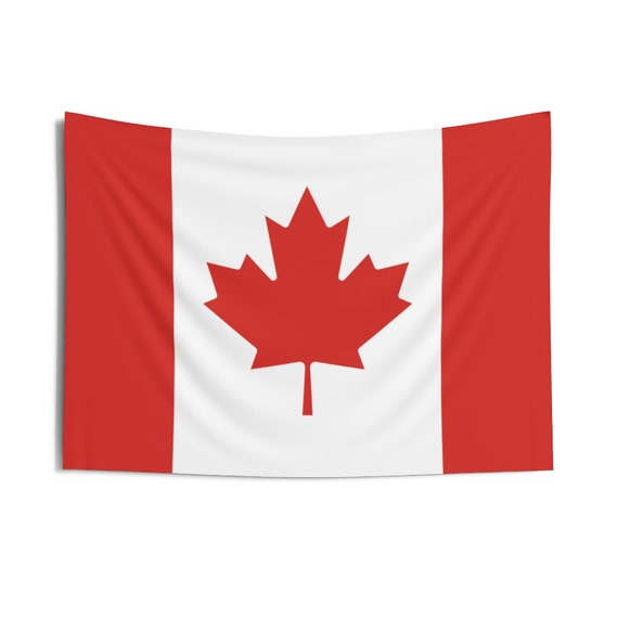 Canadian Maple Leaf, Indoor Wall Tapestry, Flag Of Canada, Wall Decor, Room Decor