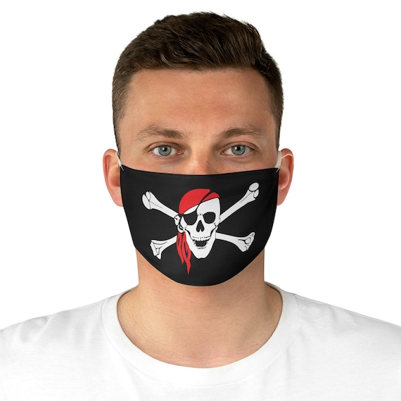 Skull & Crossbones, Cloth Face Mask, Washable, Reusable, Pirate Flag, Jolly Roger