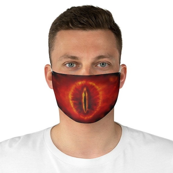 Eye Of Sauron, Cloth Face Mask, Washable, Reusable, Lord Of The Rings Inspired